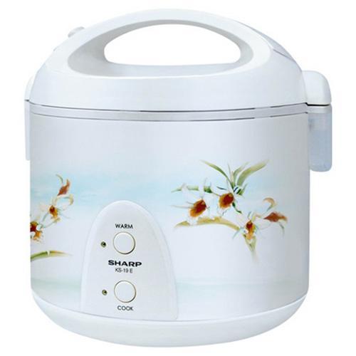 Sharp Electric Rice Cooker KS19ET 1.8 L White - (KS-19ET)
