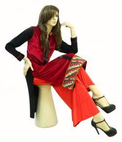 JULIA Designer Velvet Kurti - (MV-004)