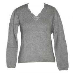 Ladies Chunky V-Neck FS Sweater - (NEP-006)