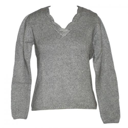 Ladies Chunky V-Neck FS Sweater - (NEP-006)
