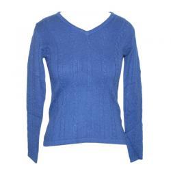 Ladies Ribbed V-Neck FS Pullover - (NEP-010)
