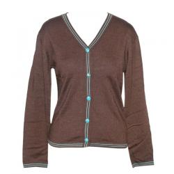 Ladies V-Neck Cardigan Contrast Tapo - (NEP-014)