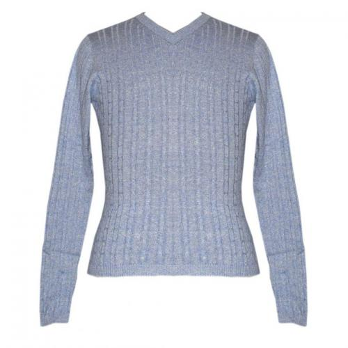 Ladies V-Neck FS Cable Knit Sweater - (NEP-018)