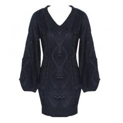 Ladies V-Neck Full Sleeve Cable Knit Sweater - (NEP-020)