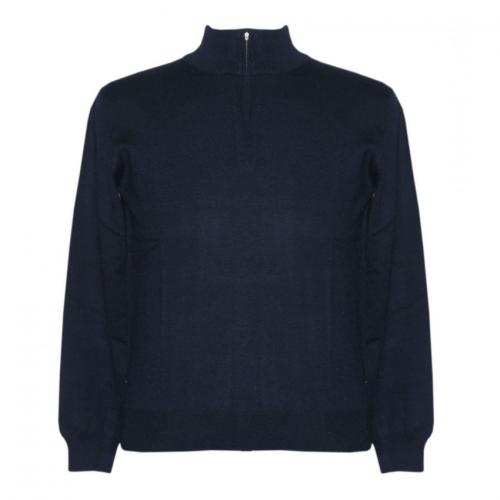 Men's Mock Neck Half Zipper Sweater - (NEP-024)