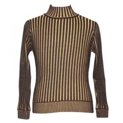 Men's Ribbed Platting Mock Neck Sweater - (NEP-026)