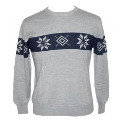 Men's Round Neck FL Jacquard Sweater - (NEP-027)
