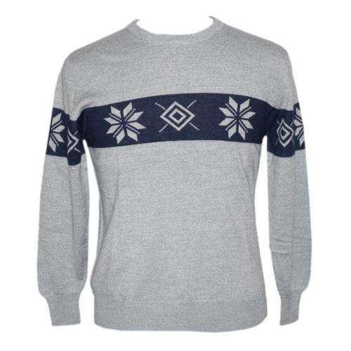 Men's Round Neck FL Jacquard Sweater - (NEP-027)