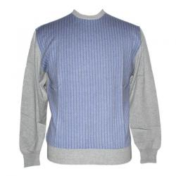 Men's Round Neck Front Jacquard Sweater - (NEP-028)