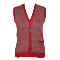 Men's V-Neck Cardigan Jacquard Short Sleeve - (NEP-030)