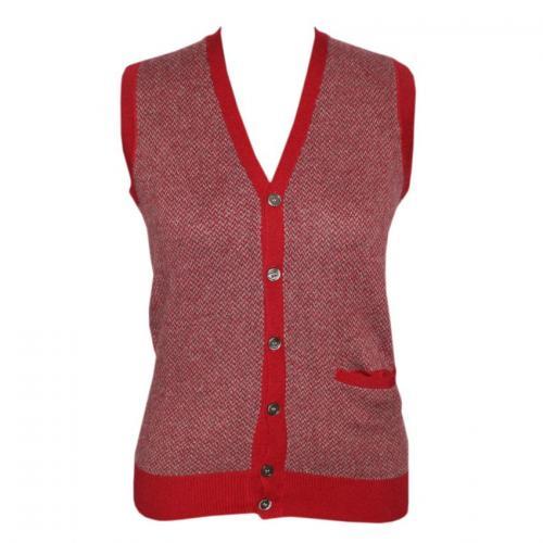 Men's V-Neck Cardigan Jacquard Short Sleeve - (NEP-030)
