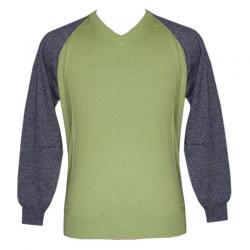 Men's V-Neck FS Bi-Color Sweater - (NEP-033)
