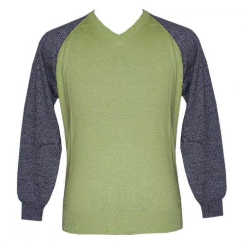 Men's V-Neck FS Bi-Color Sweater - (NEP-033)
