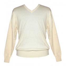 Men's V-Neck FS - Off White Sweater - (NEP-032)