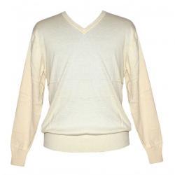 Men's V-Neck FS - Off White Sweater - (NEP-032)