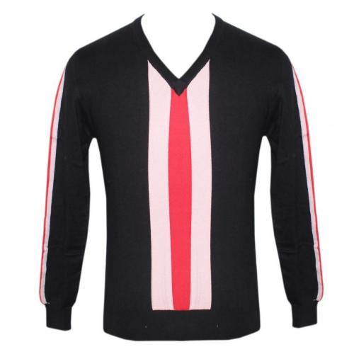 Men's V-Neck Full Sleeve Intarsia Sweater - (NEP-035)