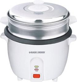 Black & Decker RC1000 1.0-Liter (5-Cup) Stainless Steel Rice Cooker, 220-240 Volts - (RC-1000)