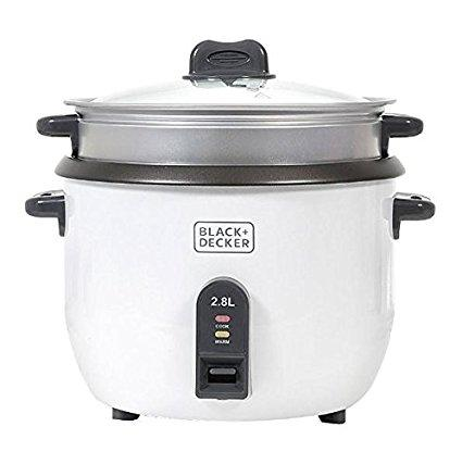 Black & Decker RC2850 1100W 2.8 L 11.8 Cup Rice Cooker - (RC-2850)
