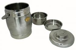 Aulun 2.2 Ltr. Steel Hotcase with 3 Steps - (TP-246)