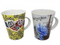 Rose and Eiffel Tower Printed Beautiful Ceramic Mug - (TP-250)
