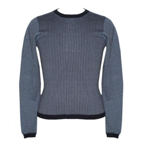 Unisex Round Neck Allover Jacquard Sweater - (NEP-041)