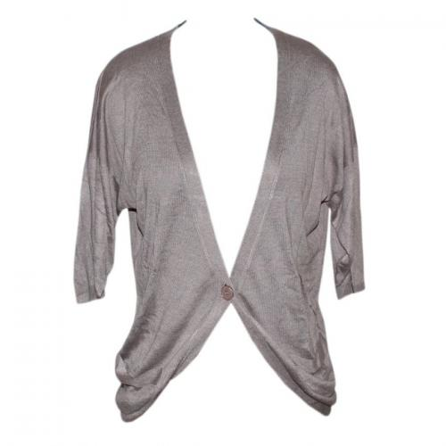 Women's Over Size V-Neck Cardigan Half Sleeve with Button - (NEP-042)