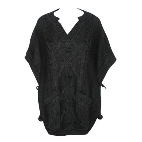 Women's Poncho Round Neck Top - (NEP-043)