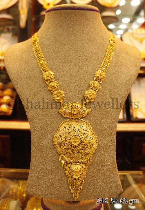 Wedding Gold Necklace - 55.63 gm - (SM-001)