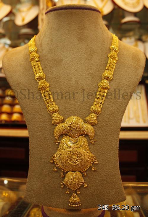 Wedding Gold Necklace - 86.20 gm - (SM-003)