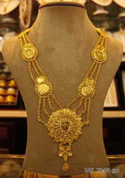 Wedding Gold Necklace - 78.84 gm - (SM-004)