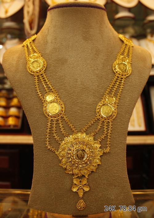 Wedding Gold Necklace - 78.84 gm - (SM-004)