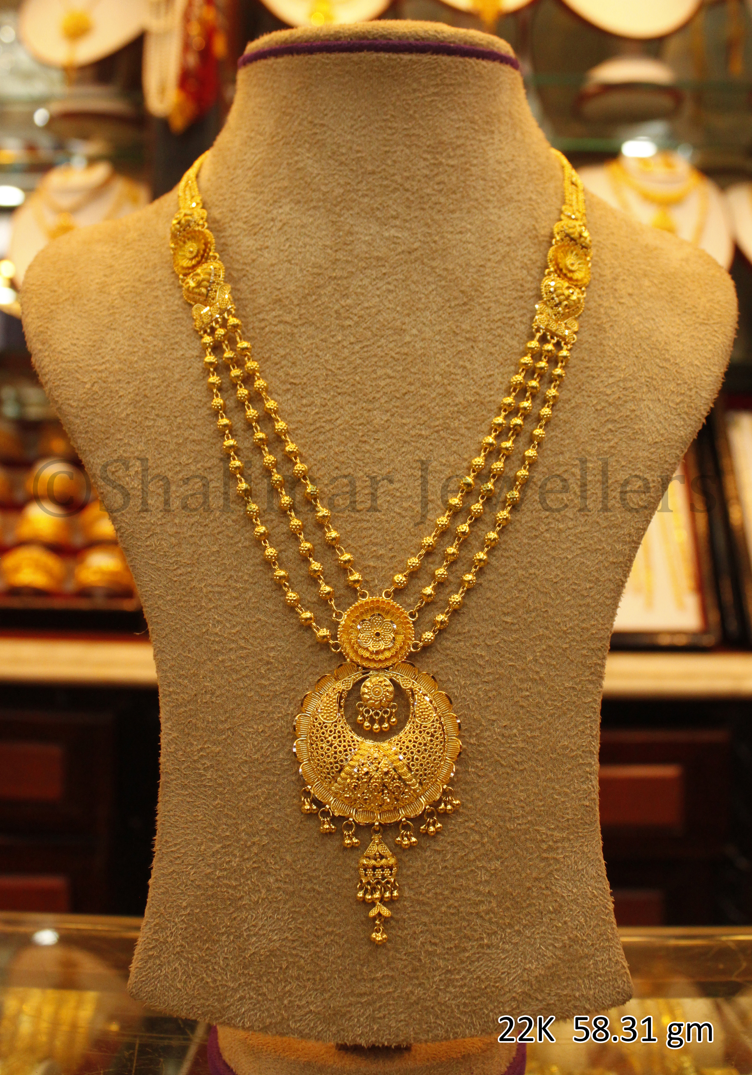 Wedding Gold Necklace 58 31 Gm Sm 005 By Shalimar