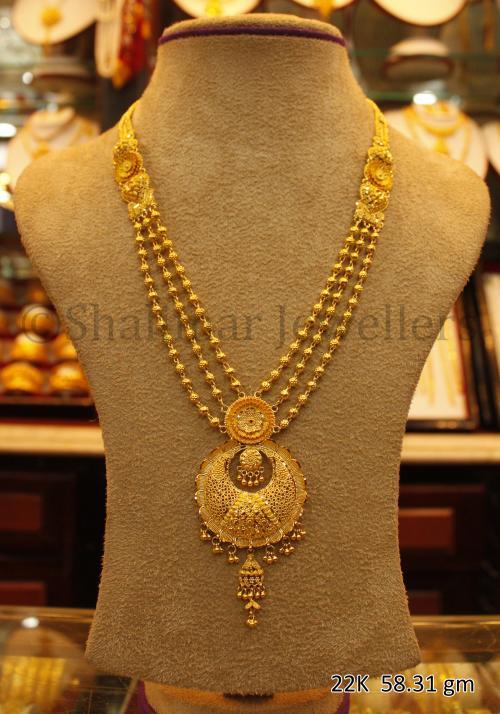 Wedding Gold Necklace - 58.31 gm - (SM-005)