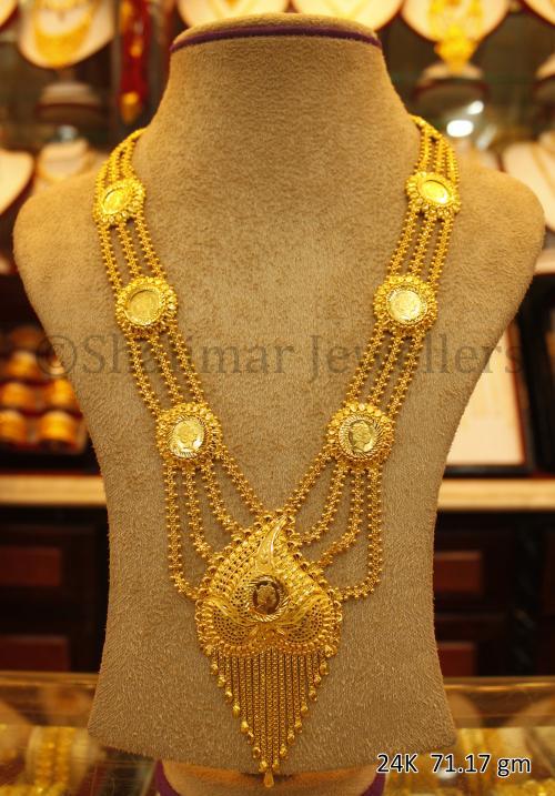Wedding Gold Necklace - 71.17 gm - (SM-006)