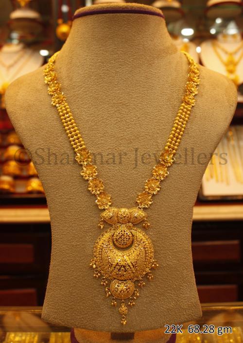 Wedding Gold Necklace - 68.28 gm - (SM-007)
