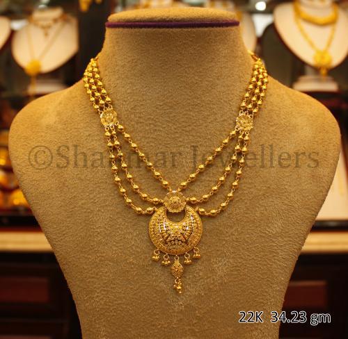 Wedding Gold Necklace - 34.23 gm - (SM-008)