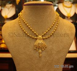 Wedding Gold Necklace - 26.01 gm - (SM-009)