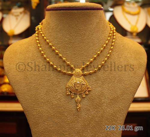 Wedding Gold Necklace - 26.01 gm - (SM-009)
