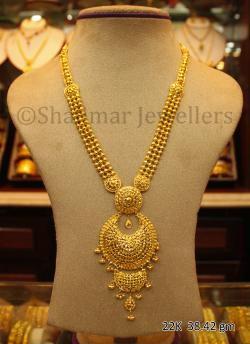 Wedding Gold Necklace - 38.42 gm - (SM-010)
