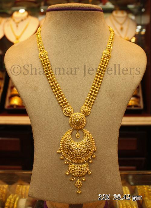 Wedding Gold Necklace - 38.42 gm - (SM-010)