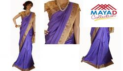 Light Blue Silk Saree For Ladies - (MDC-009)