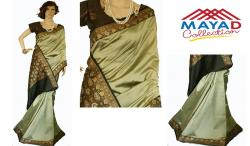 Lime Green Silk Saree For Ladies - (MDC-003)