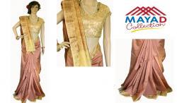 Light Pink Silk Saree For Ladies - (MDC-001)