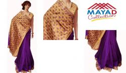 Purple Silk Saree For Ladies - (MDC-006)