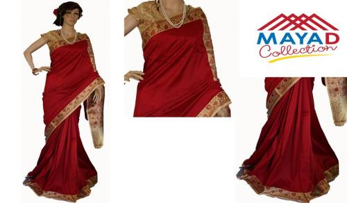 Red Silk Saree For Ladies - (MDC-008)