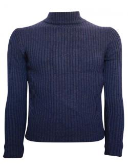 Navy Blue T-Neck Sweater For Men - (TP-433)