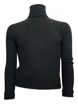 Black High Neck Sweater For Men - (TP-419)