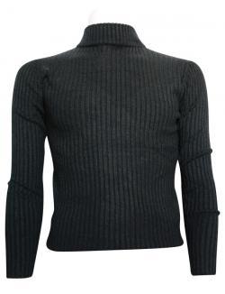 Black T-Neck Sweater For Men - (TP-437)