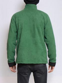 Men's Green Polar Jacket With Fur Inside - (TP-428)