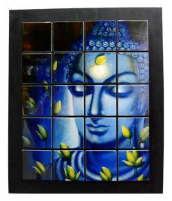Buddha Tile Wall Hanging Frame - (ARCH-014)